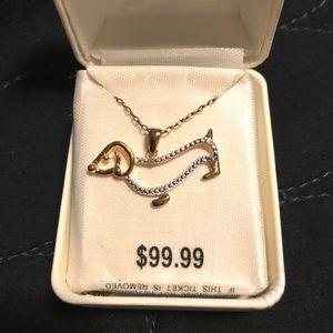 Jewelry - Diamond Accent Weiner Dog Pendant Necklace